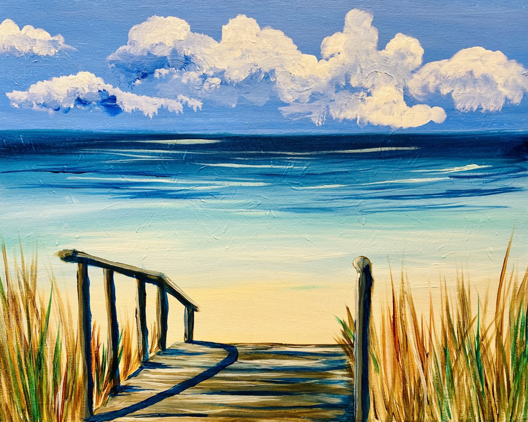 A Perfect Beach Day! New Painting!