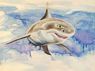 A Shark in the Watercolor