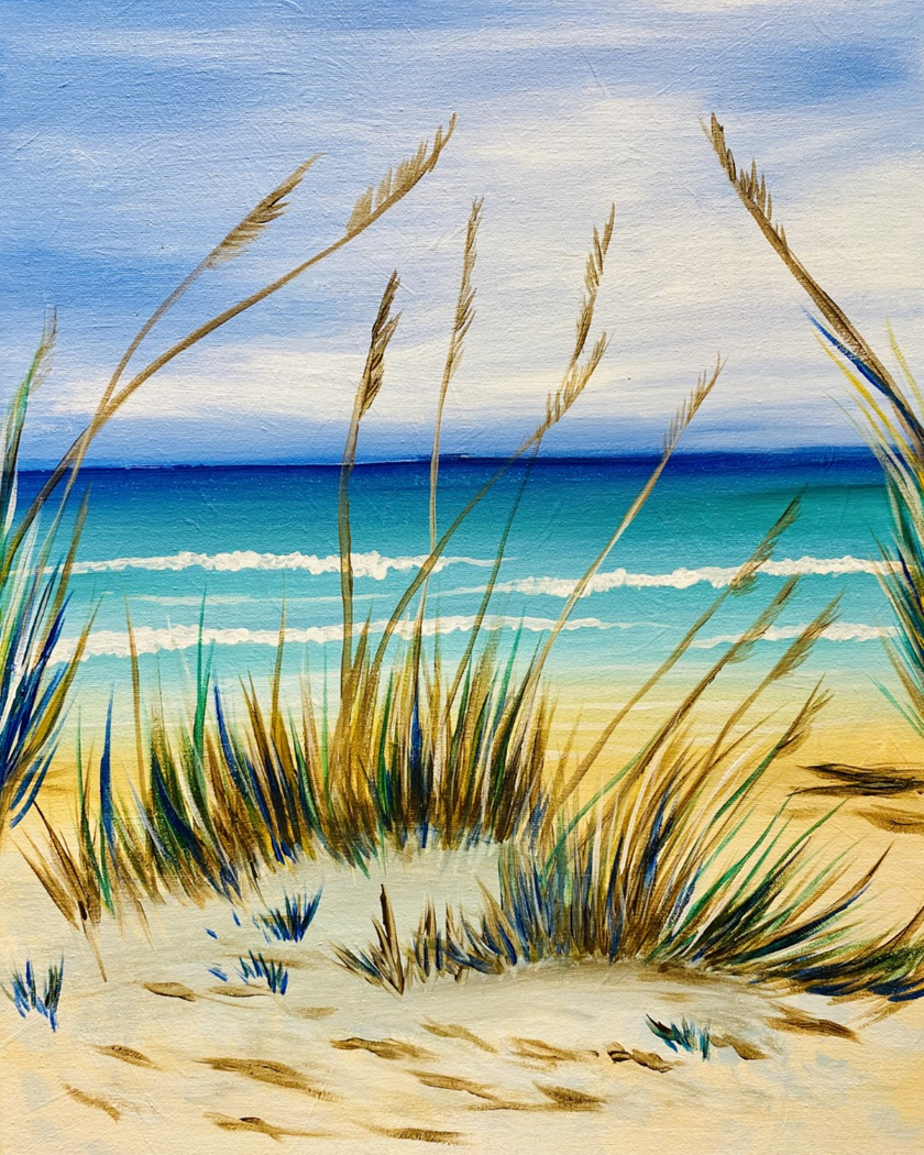A Walk on the Beach! New Painting!