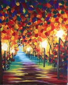 LARGE CANVAS-A WALK THROUGH COLOR - Make it a Date Night!