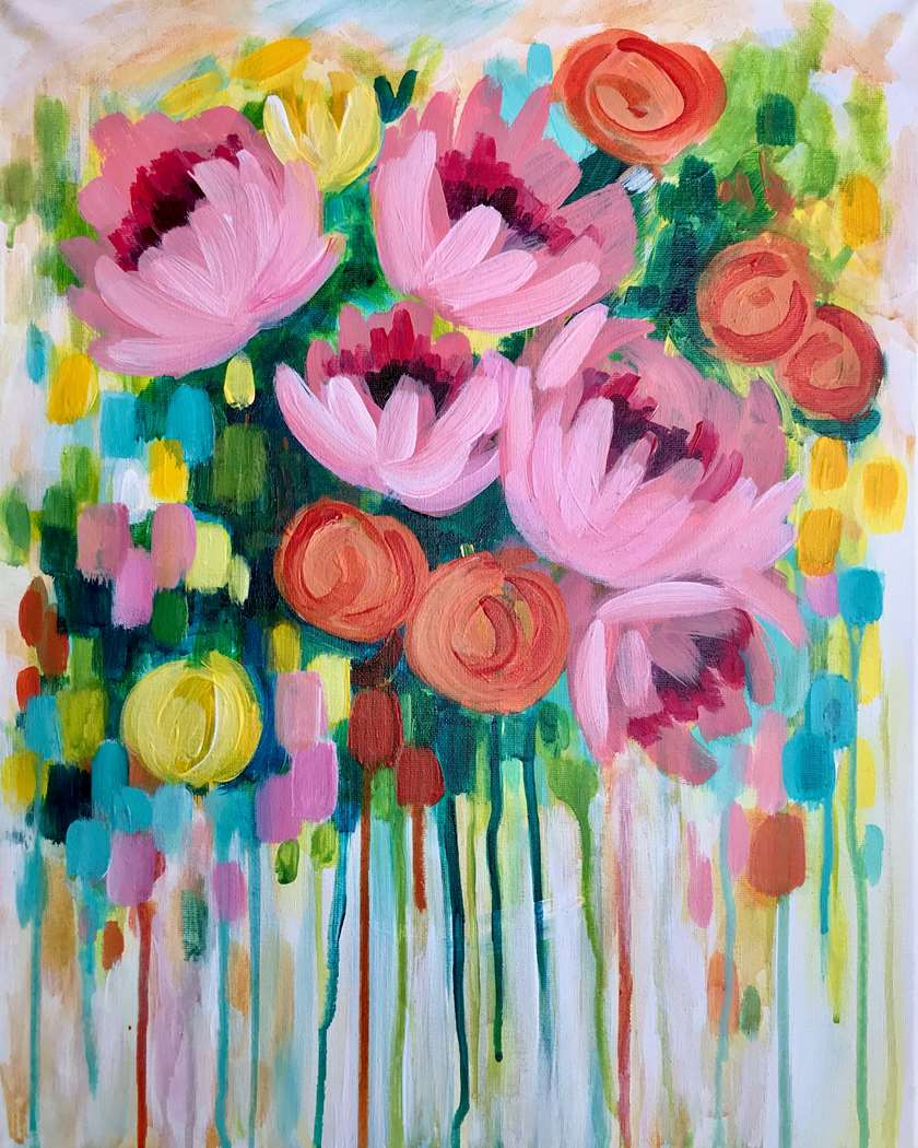 ABSTRACT FLORAL - MOTHER'S DAY WEEKEND - CHOOSE YOUR SURFACE AND SIZE
