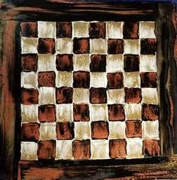 Acrylic Pour Chess Board