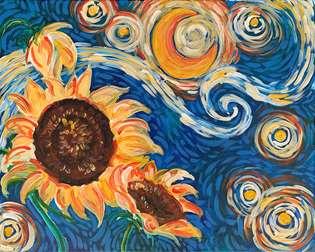 Starry Sunflowers