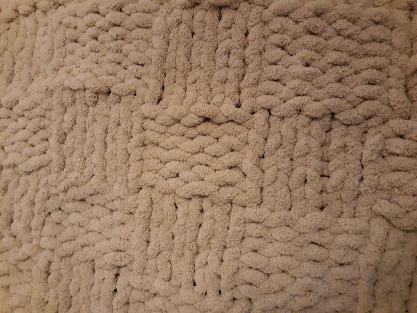 Advanced Chunky Knit Blanket-Basketweave