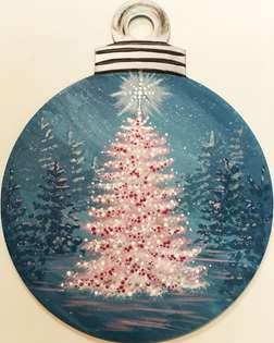 All Aglow - Ornament Door Hanger