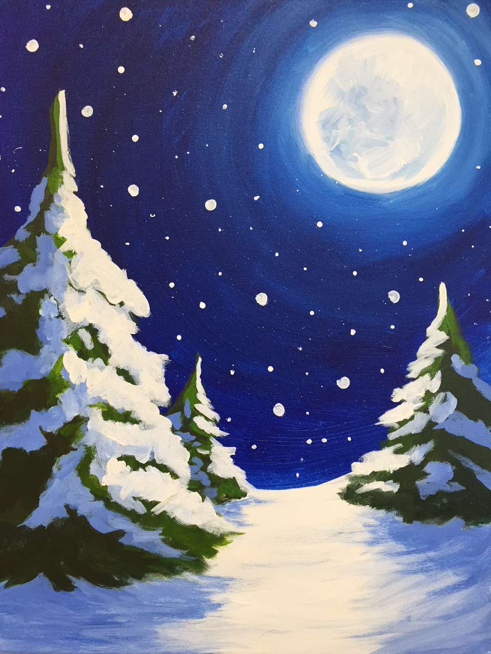 Alpine moon pinot 39 s palette painting for Sip and paint houston