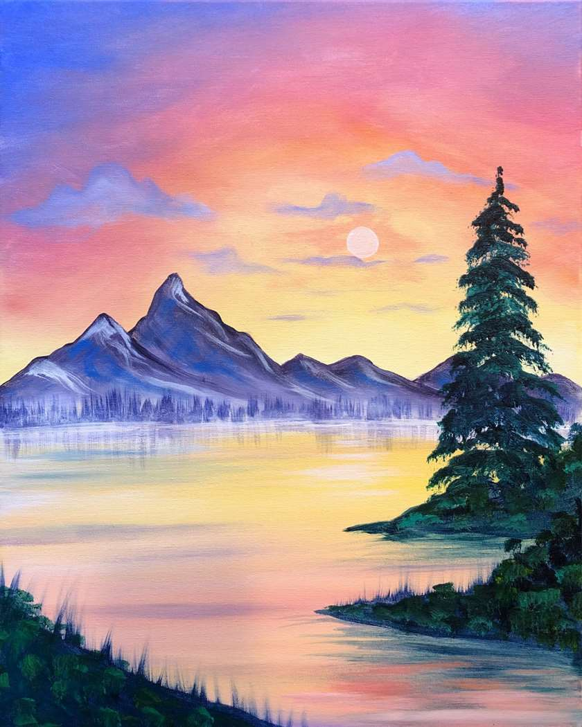 A HAPPY 'BOB ROSS' STYLE PAINTING!