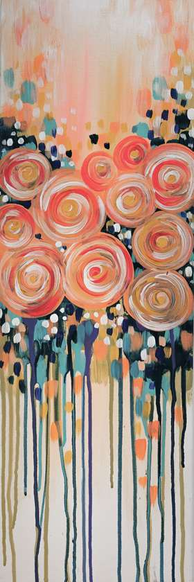 Apricot Roses - In Studio Event - Limited Seating Available