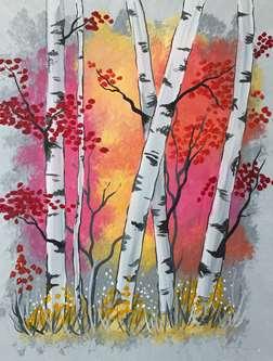 Aspen Trees At Sunrise