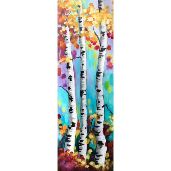 """aspens aglow"" 10 x 20 canvas family matinee"