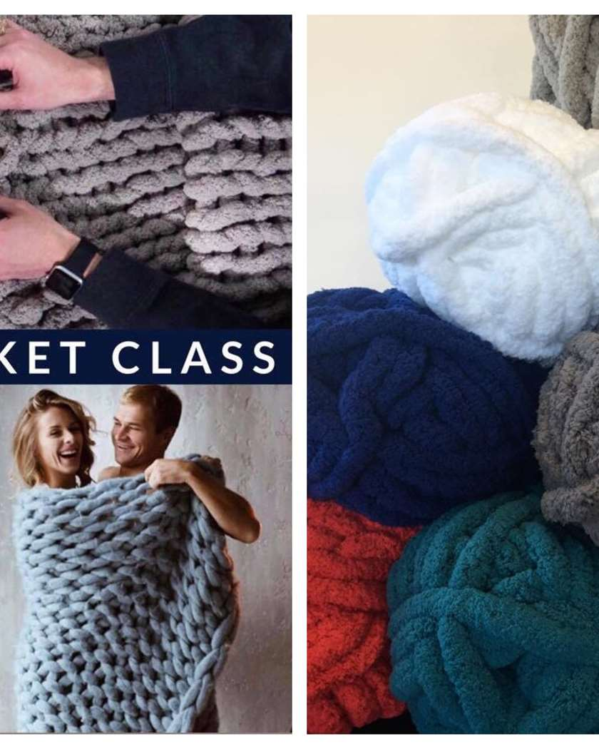 Chunky Blanket Take Home Kit - Free Delivery - 10 Colors