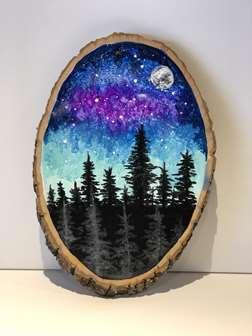 Aurora on Wood