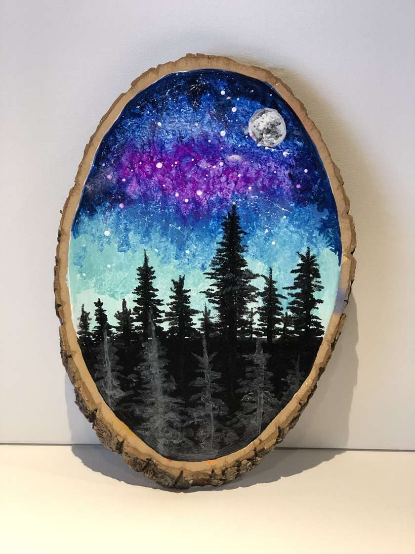 Aurora on Wood