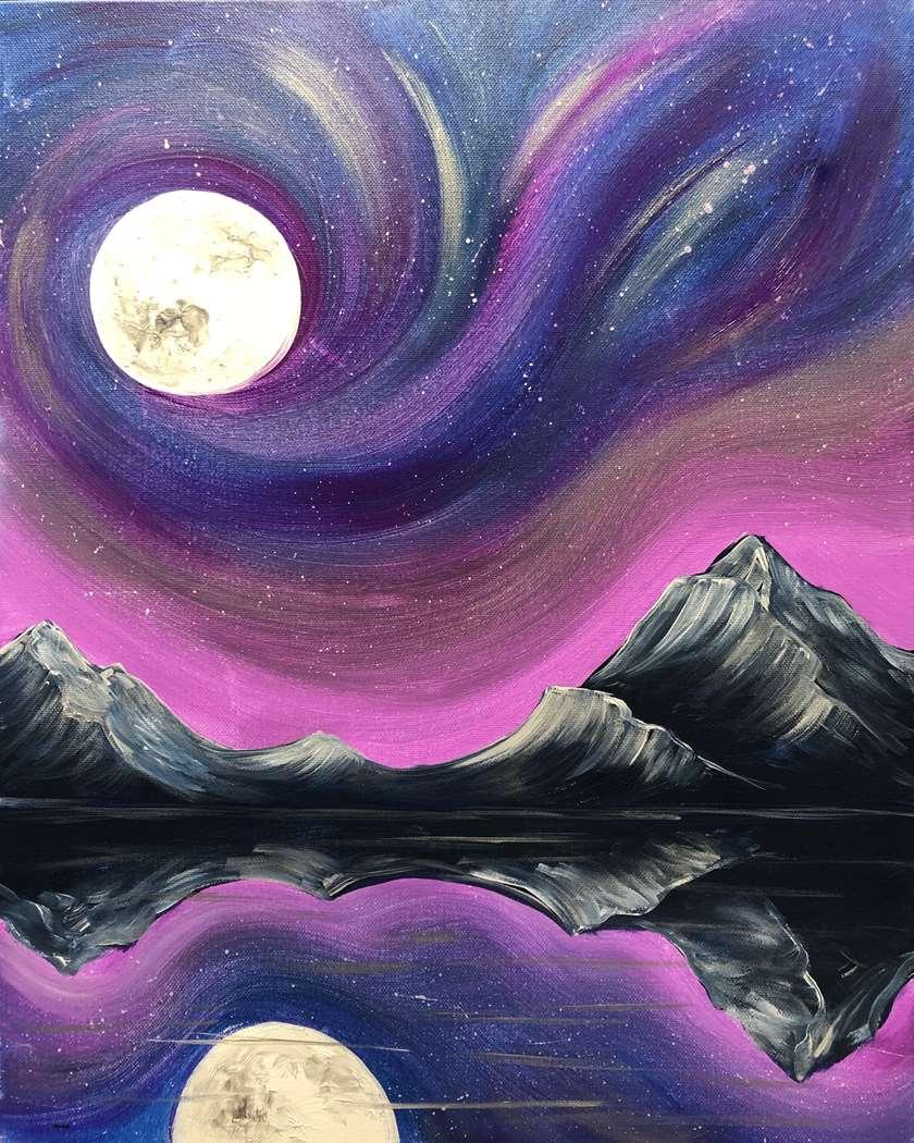 Aurora Over the Mountains
