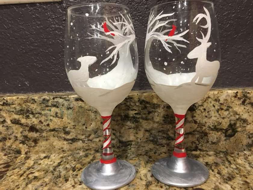 Baby it's Cold Outside - Wine Glass