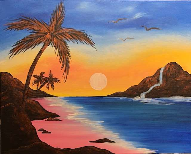 Happy Hour Sip & Paint-$30