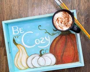 Be Cozy Wooden Tea Tray