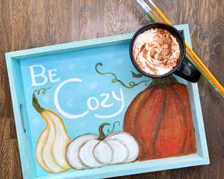 Be Cozy Wooden Tea Tray
