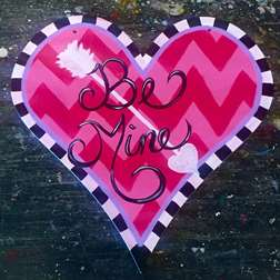 Be Mine Wooden Cutout