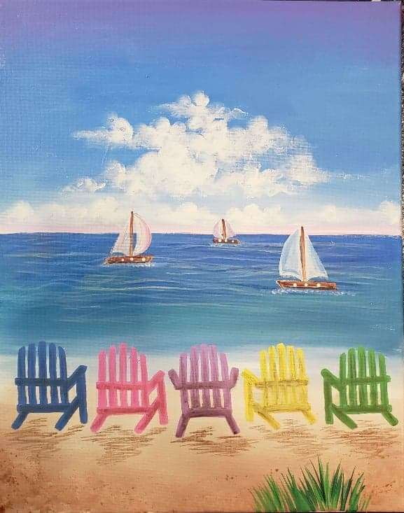 Beach Chairs - In Studio Event - Limited Seating Available