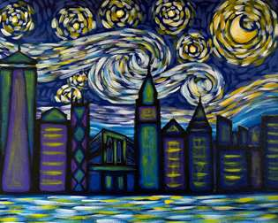 Big Apple Starry Night