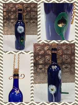 Bird Feeder (Wine Bottle): Dandy Flyin'