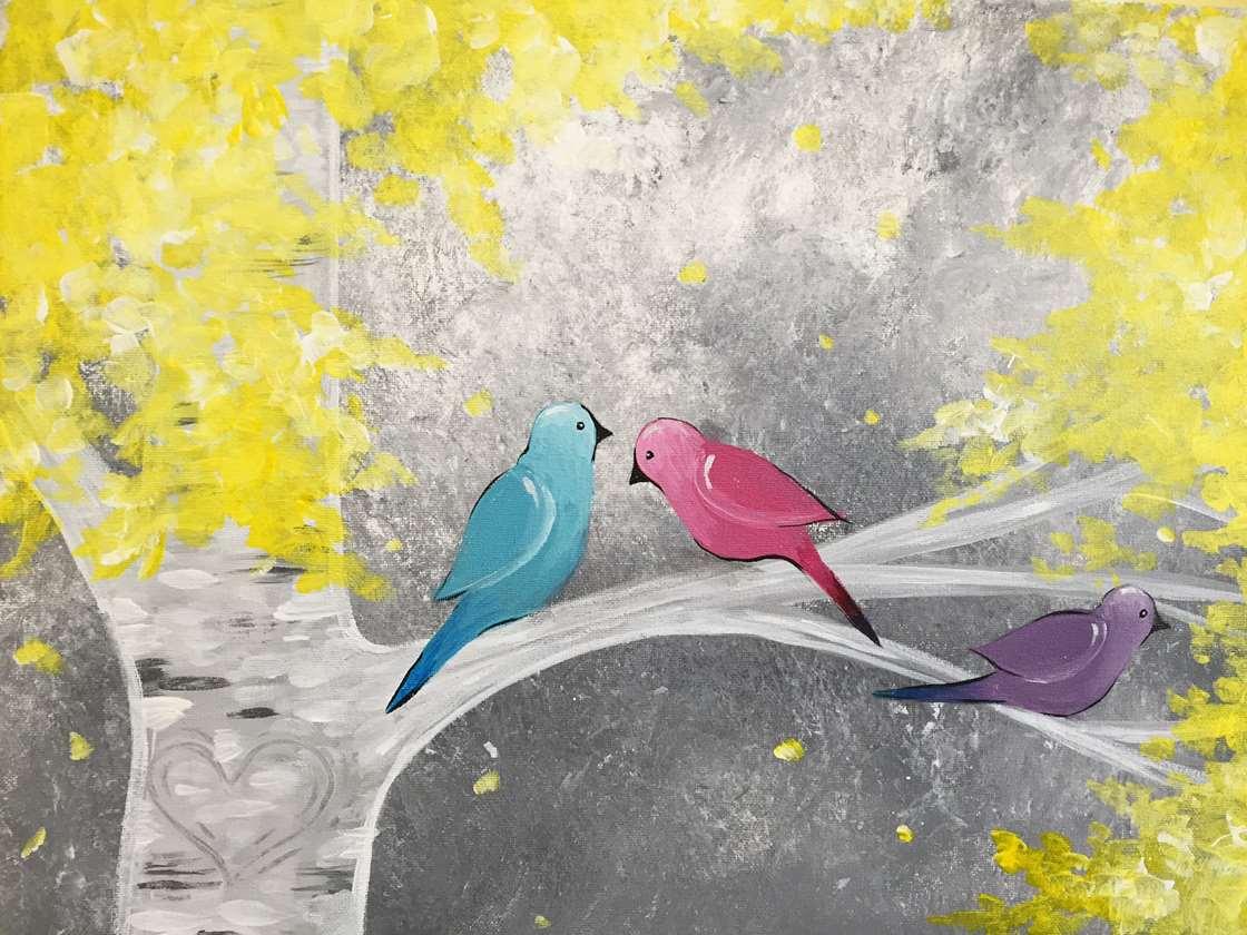 Birds in the Birch