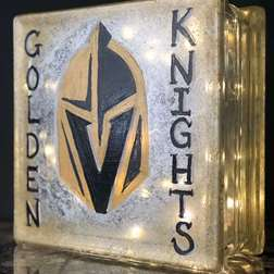 Black and Gold Glass Block