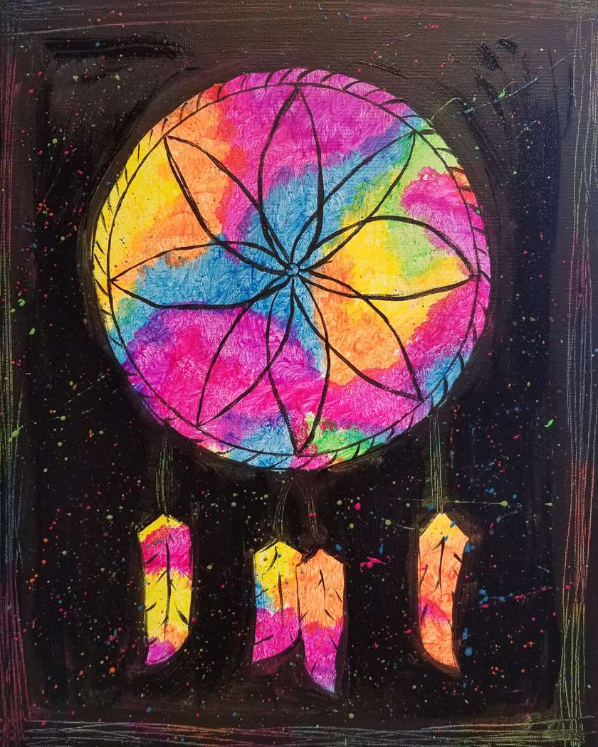 Black Light Dreamcatcher