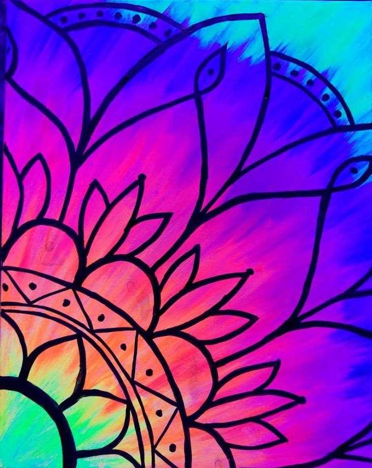 Black Light Thursday!  Mandala