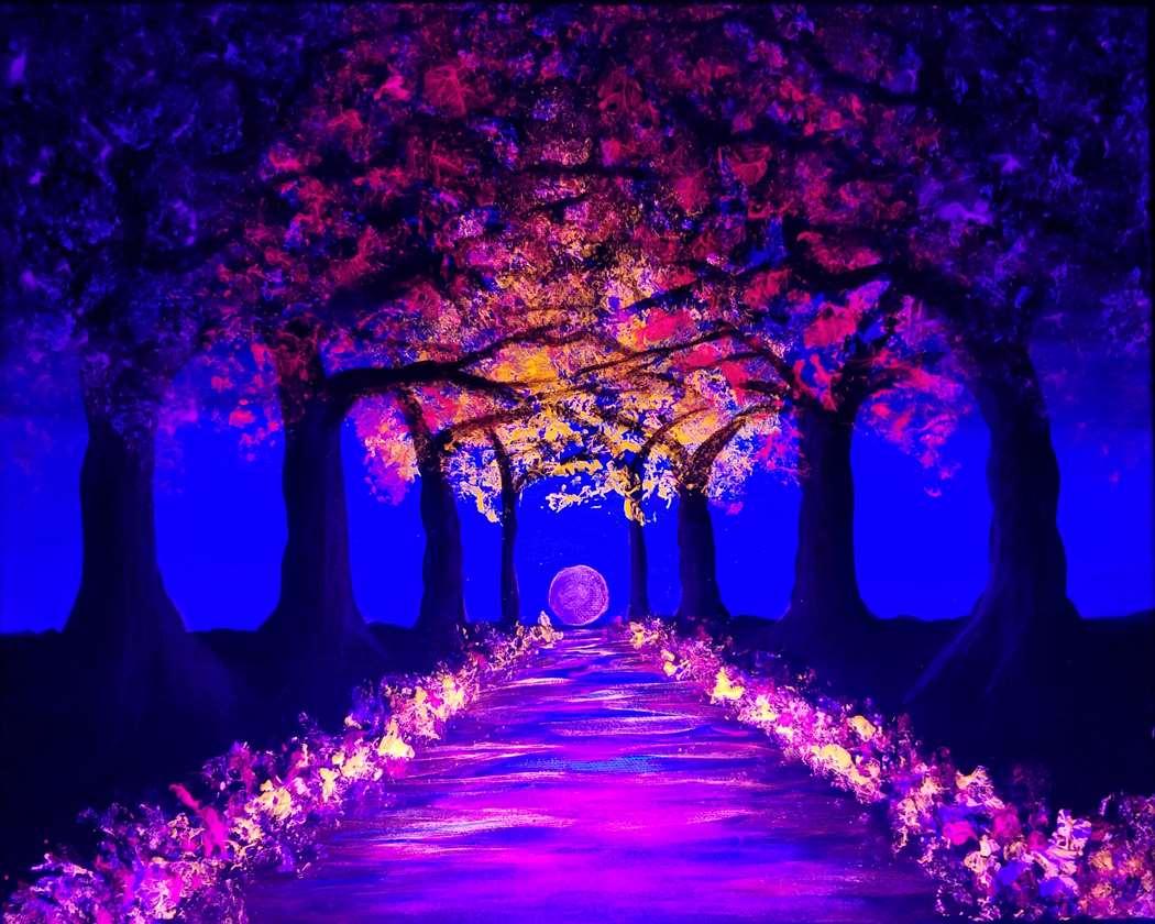 Blacklight Blossoms Aglow
