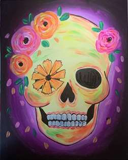 BlackLight Festive Calavera