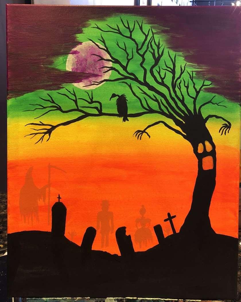 Blacklight Halloween Spirits
