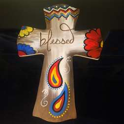 Blessed Wooden Cross Cut Out