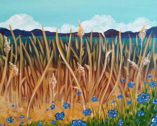 Blue Flower Fields