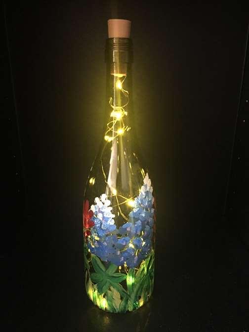Bluebonnet Wine Bottle