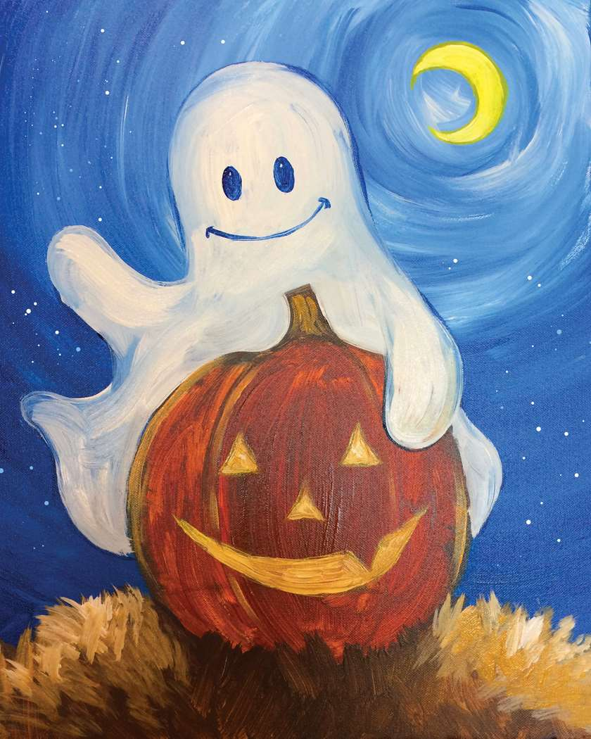 Trick-Or-Treat Bag or Canvas Painting!