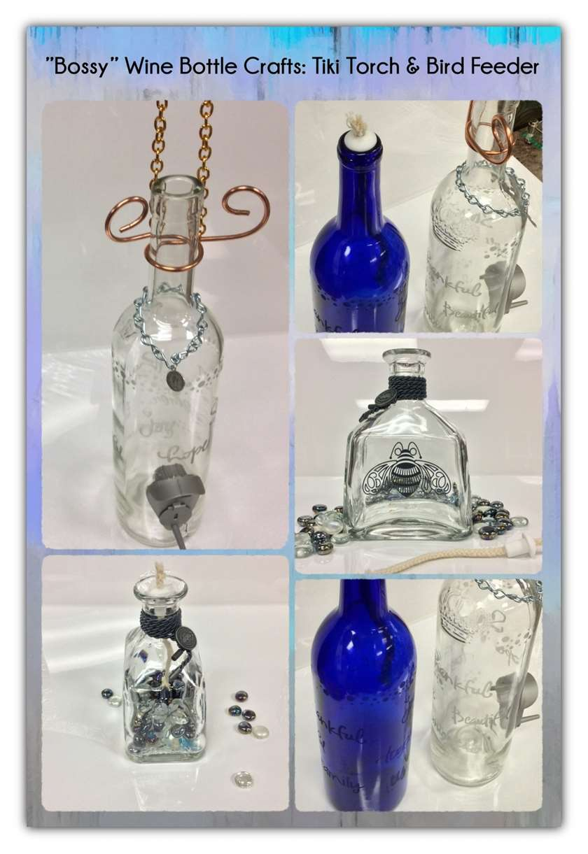 Bossy Wine Bottle Craft: Bird Feeder or Tiki Torch