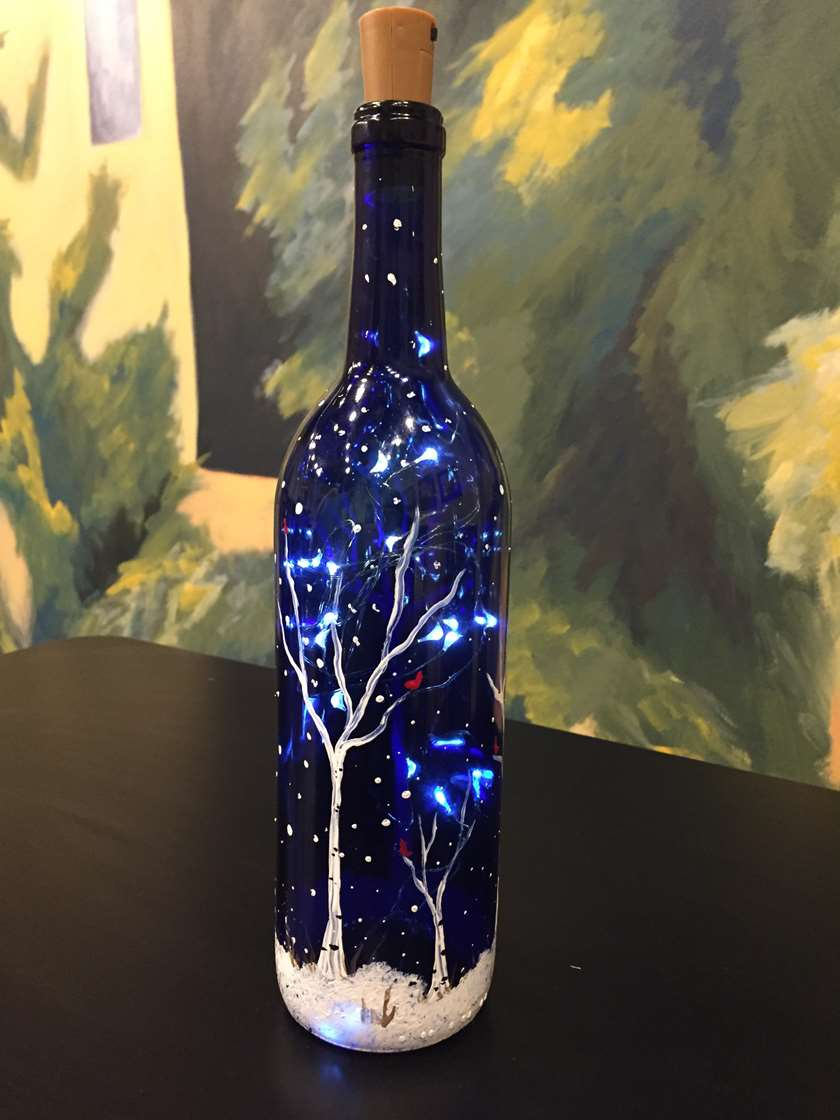Bottled Snow - lights and bottle included!