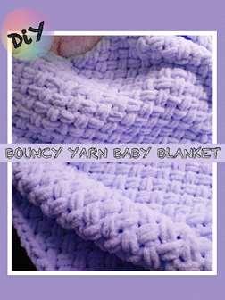 Bouncy Yarn Baby Blanket: DiY Hand Weave
