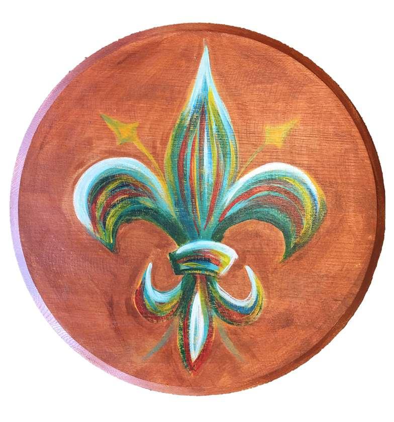 Bourbon Barrel Head - Fleur de Lis