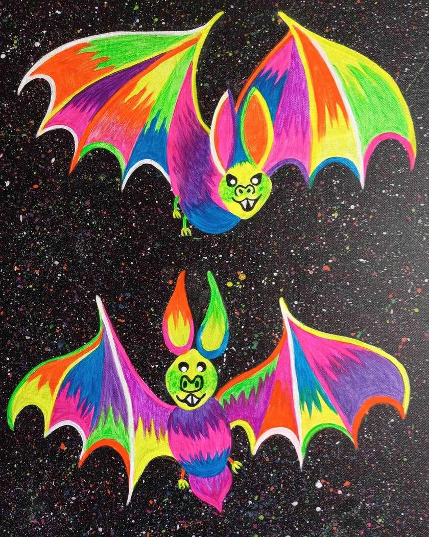 Black Light Night!  Bright Bats