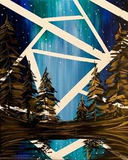 Brush-less Aurora Through the Trees