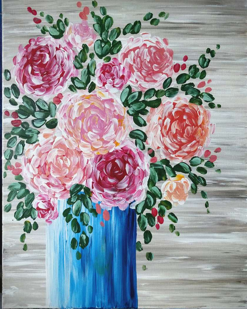 Brushless Happy Rustic Flowers