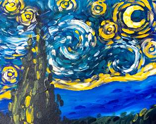 Brushless Van Gogh's Starry Night