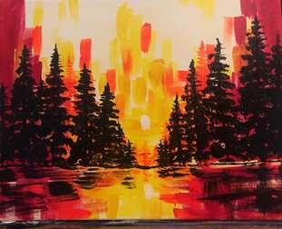 Brushstroke Sunset