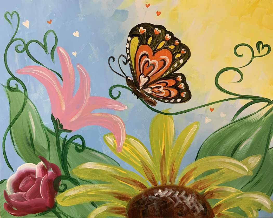 Butterfly in Bloom - In Studio Event - Limited Seating Available