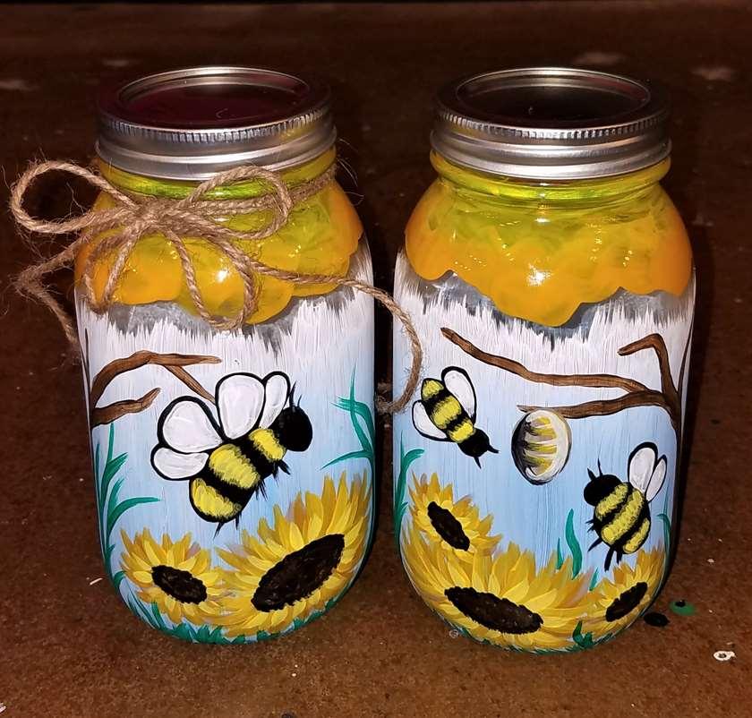 LIVE VIRTUAL CLASS- buzzing bee jars