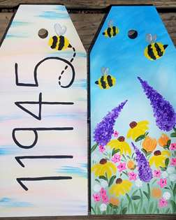 Buzzing Home Wood Door Tags