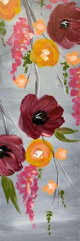 10 x 30 Canvas!  Cabernet Bouquet
